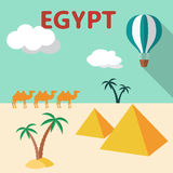 Egypt Travel flat design illustration Stock Photo
