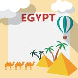Egypt Travel flat design illustration Stock Image