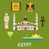Egypt travel landmarks and symbols Stock Images