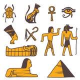 Egypt travel vector icons symbols Royalty Free Stock Photography
