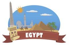 egypt Turism och lopp stock illustrationer