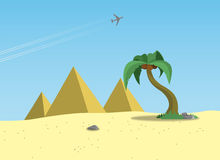 Egypt. Vector illustration of landscape Egypt Royalty Free Stock Photos