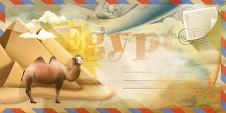Egypt vector postcard Stock Photography