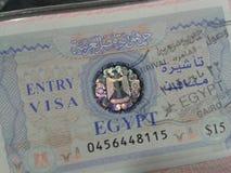 Egypt Visa Stock Image