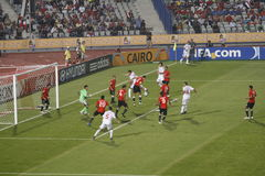 Egypt vs Paraguay - FIFA-U20 Worldcup. Egypt versus Paraguay game part of the 2009 FIFA U20 worldcup taking place in Egypt Royalty Free Stock Photo