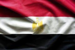 Egypt waving flag. Close up fabric background royalty free stock photos