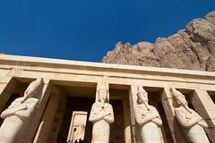 Egypt, west thebes, hatshepsut temple Royalty Free Stock Photo