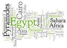 Egypt words Stock Photos