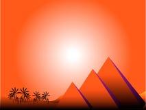egypt wschód słońca ilustracja wektor