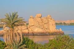 egypt wyspy jeziorny Nasser widok Obrazy Royalty Free