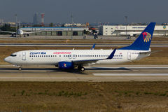 EgyptAir波音737-800 库存照片