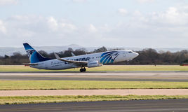 Egyptair Boeing 737 fotos de stock royalty free