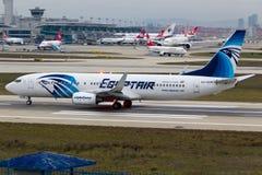 EgyptAir Boeing 737-800 Στοκ φωτογραφία με δικαίωμα ελεύθερης χρήσης