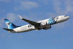 EgyptAir Boeing 737-800 Royalty Free Stock Photos