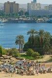 Egypte - τουρίστες που οδηγούνται από τους οδηγούς καμηλών έξυπνη στοκ φωτογραφίες με δικαίωμα ελεύθερης χρήσης