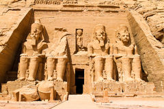 Egypte, Abu Simbel, Royalty-vrije Stock Afbeelding