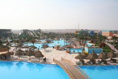 Egypte. Aquapark in Hurghada Stock Afbeelding