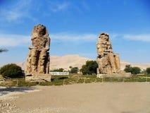 Egypte, de Kolossen van Memnon royalty-vrije stock afbeeldingen