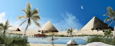 Egypte en piramides Royalty-vrije Stock Afbeelding