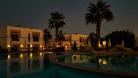Egypte - Hoteltoevlucht bij Nacht royalty-vrije stock foto's
