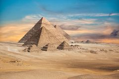 Egypte Kaïro - Giza royalty-vrije stock afbeelding