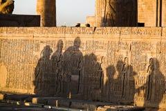 Egypte, Kom Ombo, Tempel Royalty-vrije Stock Afbeeldingen