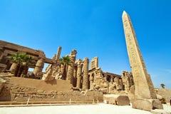 Egypte, Luxor, Karnak Royalty-vrije Stock Foto's