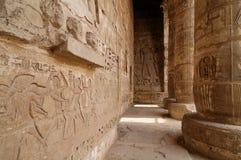 Egypte. Medinet Habu Royalty-vrije Stock Afbeeldingen