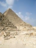 Egypte met piramides stock foto's