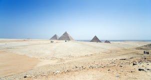 Egypte, piramides Stock Afbeeldingen