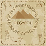 Egypte, piramides, hiërogliefen Royalty-vrije Stock Afbeeldingen
