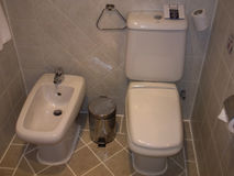 Egypte Sharm Gr Sheikh Hotel Royal Grand Sharm 10 Juli, 2014: WC in Hotel Royalty-vrije Stock Foto