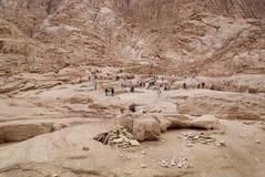 Egypte. Sinai. Bergen dichtbij Heilige Catherina stock fotografie