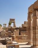 Egypte, Tempels van Karnak Stock Fotografie