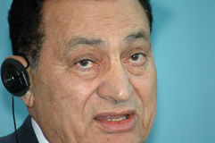 Egypte voorzitter Hosni Mubarak Royalty-vrije Stock Foto's