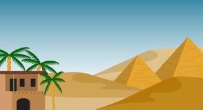 Egypten bakgrund royaltyfri illustrationer