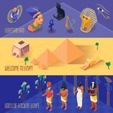 Egypten baneruppsättning stock illustrationer