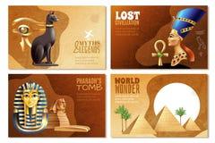 Egypten baneruppsättning vektor illustrationer