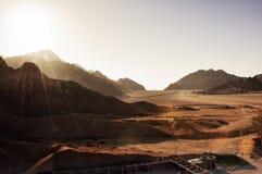 Egypten bergen av Sinaien deserterar Arkivfoto