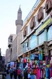 Egypten cairo gatasikt i africa Arkivbilder