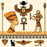 Egypten färguppsättning stock illustrationer
