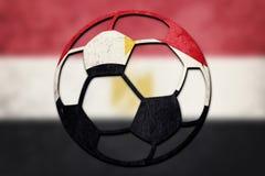 Egypten för medborgare för fotbollboll flagga Egyptisk fotbollboll royaltyfri illustrationer