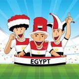 Egypten fotbollservice vektor illustrationer