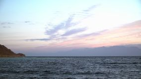 Egypten gryning på Röda havet lager videofilmer