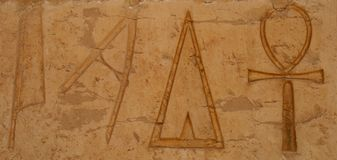 Egypten hieroglyf Royaltyfri Fotografi