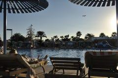 Egypten Hurghada solnedgång Royaltyfri Fotografi