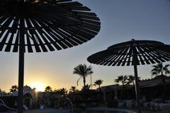 Egypten Hurghada solnedgång Arkivfoto
