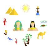 Egypten lägenhetdesign royaltyfri illustrationer