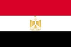 Egypten nationell aktuell flagga vektor illustrationer
