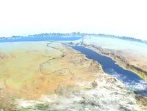 Egypten på planetjord stock illustrationer